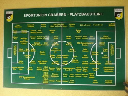 Tafel mit Platzbausteinen (Grabern-Arena)